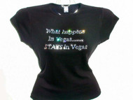 What Happens In Vegas Stays in Vegas Swarovski Crystal Rhinestone T Shirt