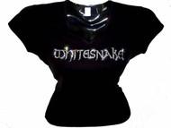Whitesnake Swarovski Crystal Rhinestone Concert T Shirt Top