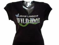 Adam Lambert Wild Idol Swarovski Crystal Rhinestone Concert T Shirt