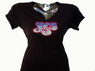 Yes Band Rhinestone Bling T Shirt
