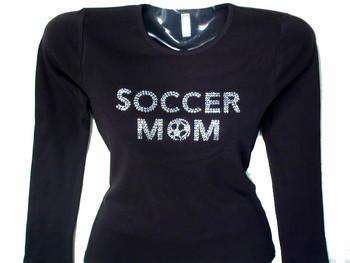 Soccer Mom Rhinestone T Shirt
