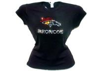 Broncos Swarovski Rhinestone T Shirt