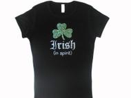 Irish In Spirit Swarovski Crystal Rhinestone Sparkly T Shirt