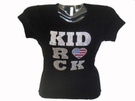Kid Rock Swarovski Crystal Rhinestone Concert T Shirt