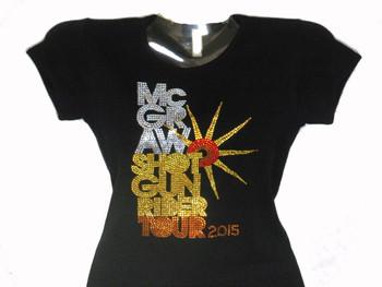 Tim McGraw Swarovski Crystal Rhinestone Concert T Shirt