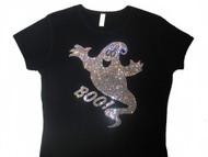 Halloween Ghost Swarovski crystal rhinestone t shirt