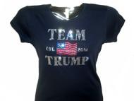 Team Trump sparkly rhinestone t shirt