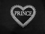 Prince Heart I Love Prince Swarovski Crystal Rhinestone T Shirt
