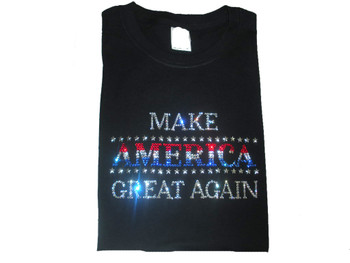 Make America Great Again Trump Rhinestone T Shirt