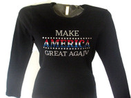 Make America Great Again Trump President Rhinestone Shirt