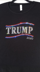 Biden or Trump 2020 Rhinestone Bling T Shirt