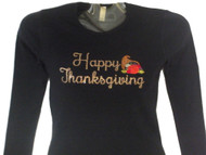 Happy Thanksgiving Swarovski rhinestone shirt