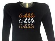 Gobble Gobble Gobble sparkly rhinestone Thanksgiving shirt