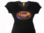 Wonder Woman Swarovski rhinestone t shirt