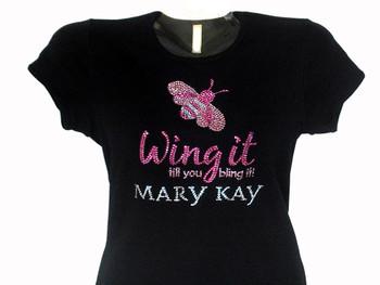 Mary Kay sparkly rhinestone t shirt