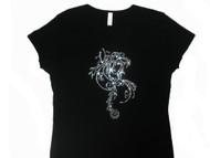 Virgo Swarovski rhinestone bling shirt