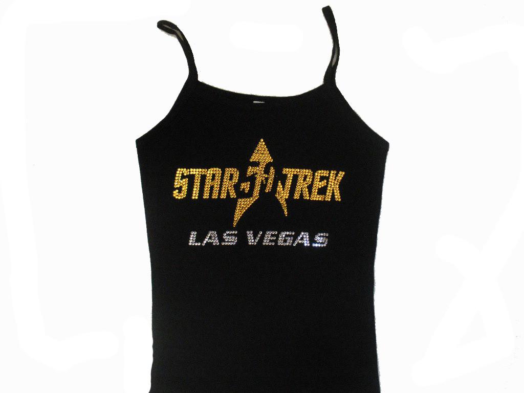 Star Trek Trekkie 50th Anniversary Swarovski Rhinestone T Shirt
