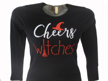 Cheers Witches Swarovski rhinestone tee shirt