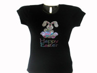 Happy Easter Bunny Swarovski crytal shirt