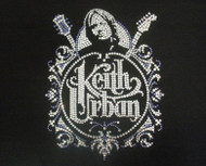 Keith Urban Swarovski rhinestone concert shirt