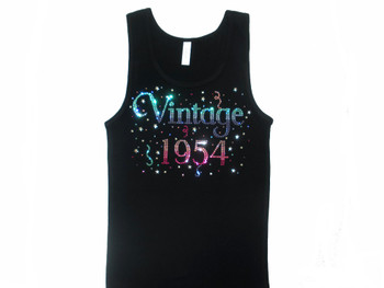 Vintage Birthday Birth Year Rhinestone Shirt