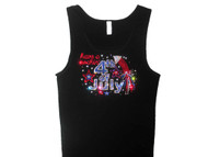 Rockin' 4th Of July Swarovski rhinestone tank top tee shirt