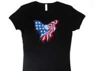 Eagle Stars & Stripes patriotic rhinestone t shirt
