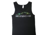 Porsche car Swarovski rhinestone sparkly tank top tee shirt