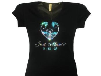Just Maui'd Swarovski rhinestone wedding bridal tee shirt
