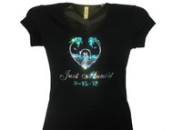 Just Maui'd Swarovski rhinestone wedding bridal tee shirt
