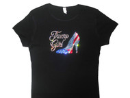 Trump Girl high heel rhinestone tee shirt