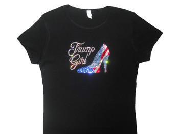 Trump Girl high heel rhinestone tee shirt