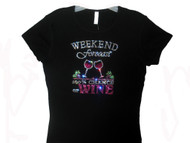 Girls Weekend Wine Tasting Swarovski rhinestone tee shirt