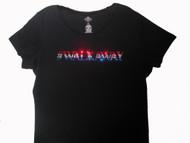 Walkaway to support Trump sparkly Swarovski rhinestone t shirt