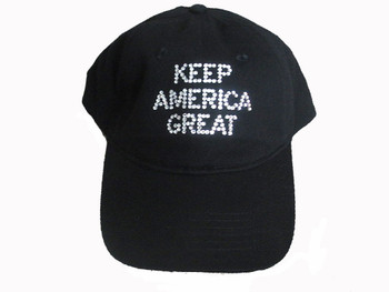 Trump Keep America Great Swarovski rhinestone hat cap