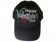 Happy Valentine's Day Swarovski crystal baseball cap hat