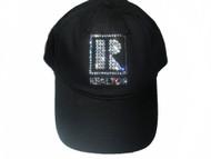 Realtor Swarovski crystal rhinestone baseball cap hat