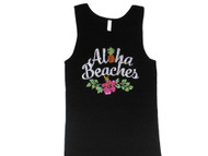Aloha Beaches Hawaii Sparkly Rhinestone Tank Top T Shirt
