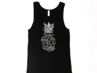 You Had Me At Aloha sparkly rhinestone tank top