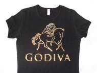 Godiva inspired Swarovski rhinestone chocoholic t shirt