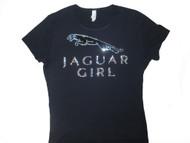 Jaguar Girl Swarovski Rhinestone Women's Tee Shirt