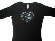 I Love Lucy Sparkly Rhinestone T Shirt made with Swarovski crystals