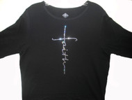 Faith Swarovski rhinestone tee shirt