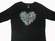 Love The Life You Live, Live The Life You Love Swarovski Rhineston Shirt
