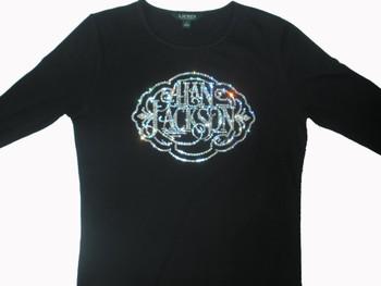Alan Jackson Swarovski Rhinestone Concert T Shirt
