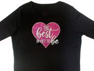 The best is yet to be sparkly rhinestone women's t shirt