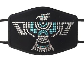 Swarovski crystal face mask with phoenix design