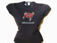 Buccaneers Swarovski crystal ladies t shirt