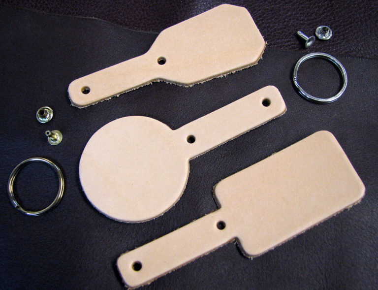 blank keychain leather shapes