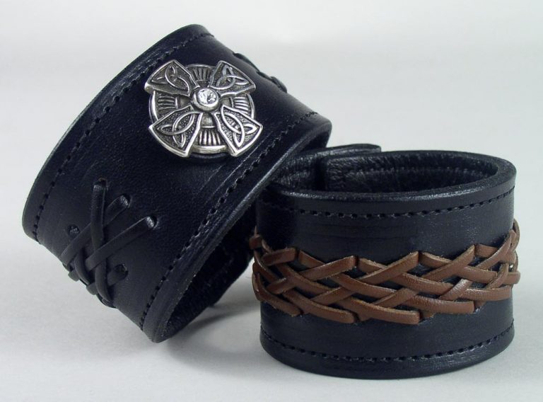 Braided leather wristbands